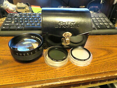 Quasar Tele Conversion Lens X1.5 With 2 49mm Filters & Case