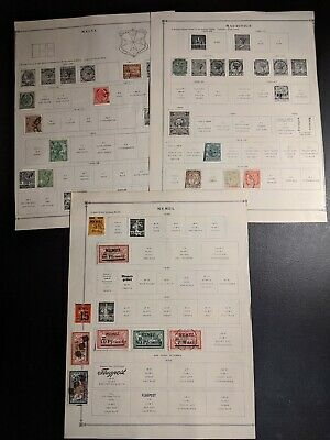 Old Mauritius-Memel-Malta Stamp Collection From A 1930'S Scott Album Used& Mint
