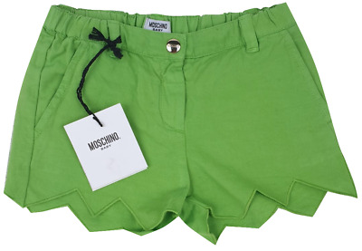 NEW MOSCHINO KIDS RRP £70 Girls Lime Green Shorts Pants AGE 3 YEARS A507