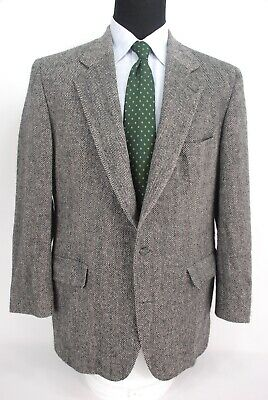 Brooks Brothers 2Btn Tweed Gray Herringbone Sport Coat 1/2 Lined Men's 43R