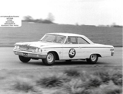 Jack Sears Ford Galaxie 1963 Photograph Btcc Silverstone International Willment