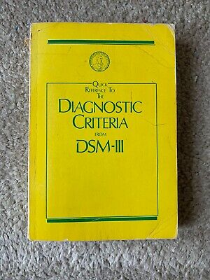 Quick Reference To The Diagnostic Criteria from DSM-III Paperback 1980 Mini-D