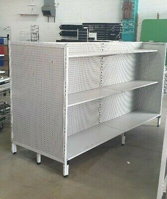 CHEAP Used Second Hand Heavy Duty Gondola Shelving Double Sided 1500mm x 1200mm