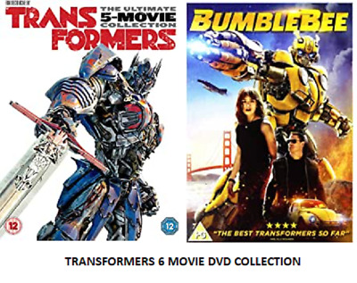 Transformers Complete 6 Movie Collection Part 1 2 3 4 5 6 Film Uk Dvd R2 New