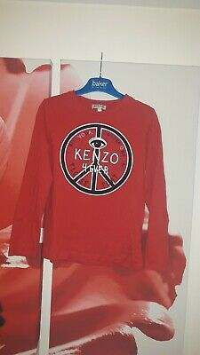Boys Kenzo Red Long Sleeve Top Age 8