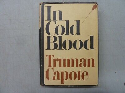 In Cold Blood Truman Capote HC w/Jacket 1st Edition 1965 Book Club Edition