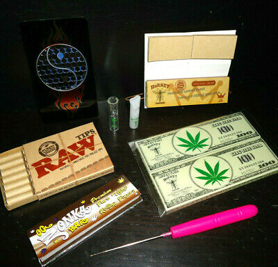420 Rolling Pack ! # Glass Tips_ Shred Card_ Rolin Papers_ Raw Tips_ Poker Stik!