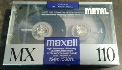 Maxell MX-110 Metal Cassette Tape - NOS