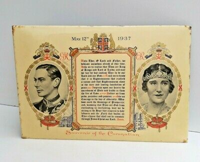 Vintage King George VI & Queen Elizabeth Coronation 1937 Souvenir Very Unusual