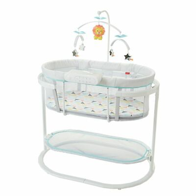 New Fisher Price Soothing Motions Bassinet Lights Music Vibrations
