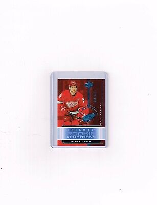 2019-20 Ud Trilogy Hockey Rookie Renditions Blue Card Of Ryan Kuffner # Rr-9