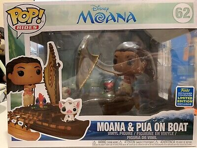 Funko POP Rides SDCC Exclusive Disney Moana /& Pa on Boat Limited edition 65