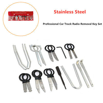 20x Professional Car Radio Removal Key Stainless Kit Stereo CD Audio Tools Keys