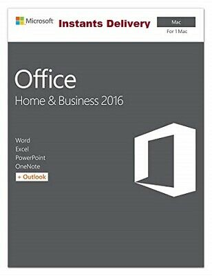 MS Office Home and Business 2016 For Mac 3 User (Lifetime) - Instants Delivery