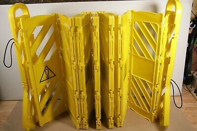 Amazon Commercial Expandable Mobile Barricade Fence Safety System Yellow 13 Feet