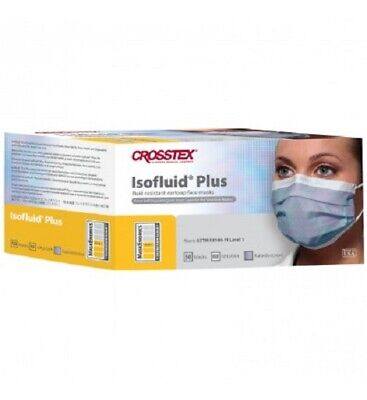 Crosstex Isofluid Plus Earloop Face Mask Bx/50 ASTM Level 1 #GPLUSKA