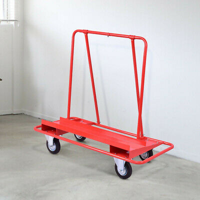 Drywall Dolly Handling Heavy Duty Steel  Sheetrock Sheet Panel Service Cart Red