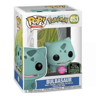 Funko Pop! Pokemon: FLOCKED BULBASAUR ECCC Amazon Shared Exclusive PREORDER!