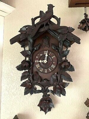 ANTIQUE BLACK FOREST CUCKOO CLOCK FURDERER JÄGLER 19th C.