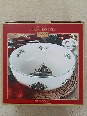 Spode Christmas Tree Serving Dish. Large round bowl   24.5cm
