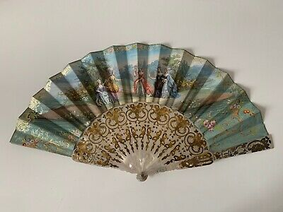 Antique 19Th Century Mother-Of-Pearl Fan