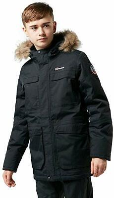 Berghaus Black Kids Fourstones Parka School Jacket Winter Coat 13 Boys or Girls