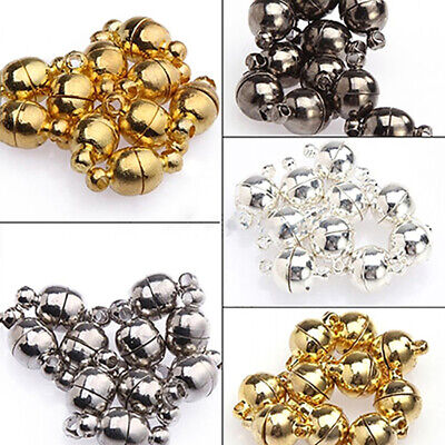 10Pcs 6mm/ 8mm Round Ball Magnetic Clasps All Match DIY Necklace Tools Salable