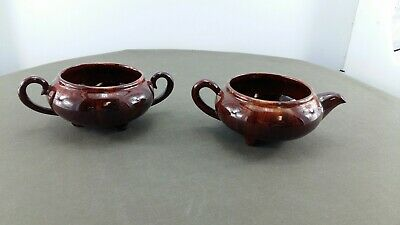 Blue Mountain Pottery CCC Sugar and Creamer with handles