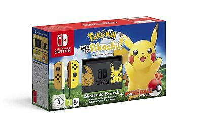 Nintendo Switch Pokémon Let's Go Pikachu! Bundle Konsole Gaming ohne Spiel