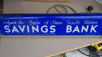 Genuine Vintage Bank Of New South Wales Agency Sign