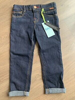 New Ted Baker Boys Dark Blue Smart Jeans Trousers Size 2-3 Years