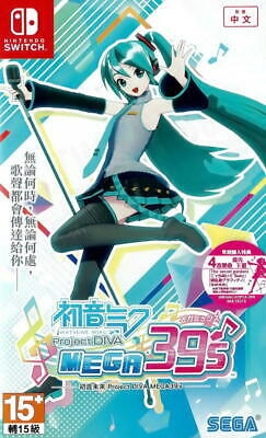 Hatsune Miku Project Diva Mega39's For Nintendo Switch NS (Japanese/Chinese Sub)