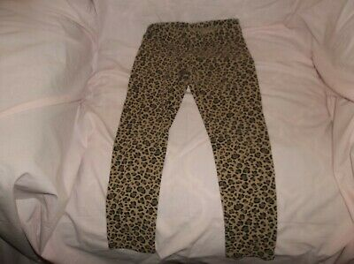 Girls Jumping Beans leggings size 5--GUC--brown, brown/black leopard spots, stre