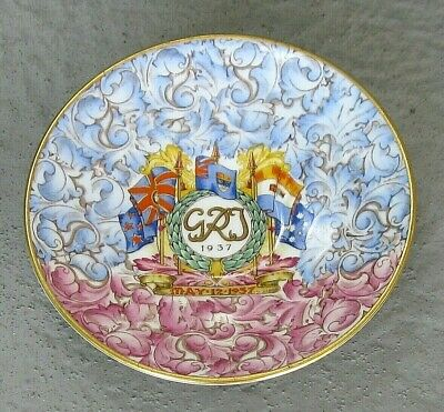 Paragon King George VI & Queen Elizabeth Coronation Saucer Hand Painted