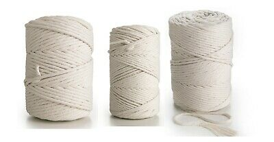 Macrame Cord 4mm 3mm or 5mm rope single twisted natural 100% cotton