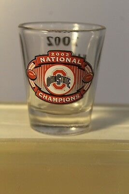 Collectible Barware HUNTER Shot Glass Ohio State Buckeyes 2002 National Champs