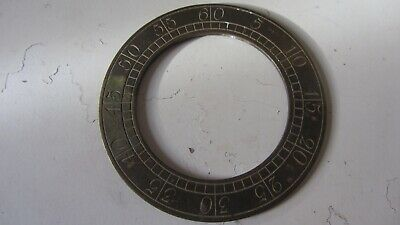 Antique Brass Long Case Seconds Chapter Ring