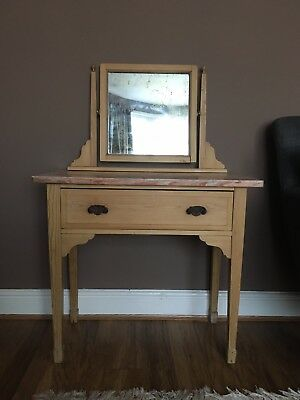 Small Vintage Pine Dressing Table
