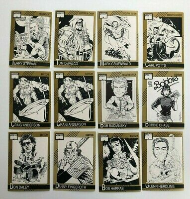 Rare 1991 Marvel Editor Autograph Series Cards Near Complete