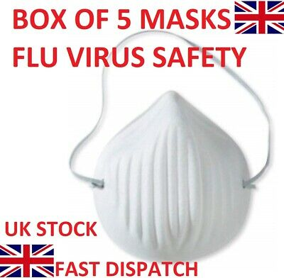 Flu Virus Safety Breathing Face Mask Highest Respirator Protection FFP3 Box 10