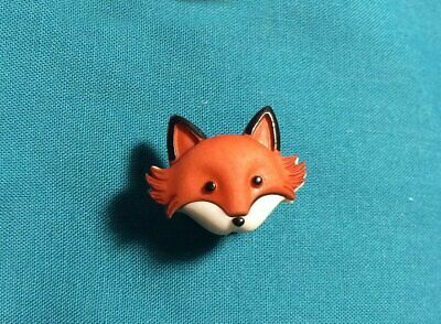 Cute Little Red Fox Foxes FACE Animal Croc Hole Accessories Shoe Charm