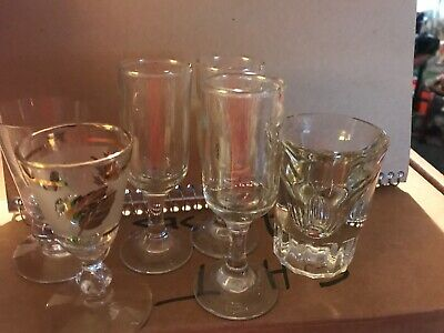 Lot Of 6 Vintage Mixed Shot Glasses