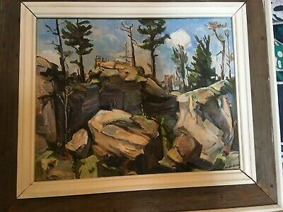 King Road Escarpment Oil Painting By Walter Hickling