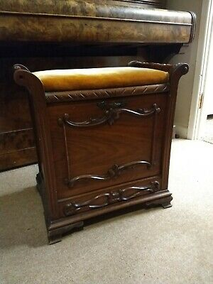 Antique Piano Stool with music drawer