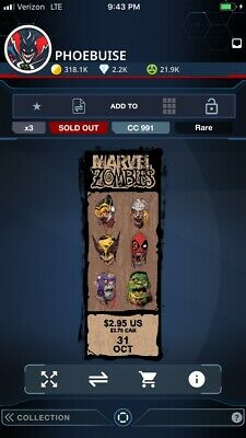 Topps Marvel Collect Digital Card - Corner Box - Marvel Zombies