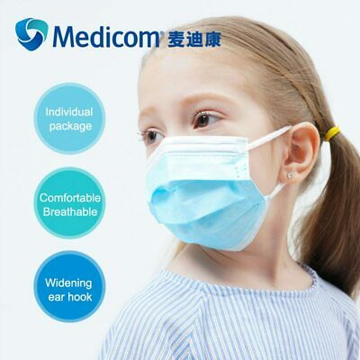 Disposable Face Mask Surgical Medical Dental Industrial 3-Ply Coronavirus