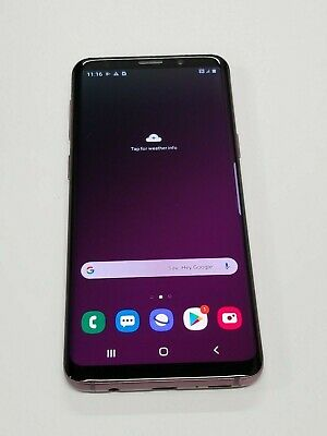 Samsung Galaxy S9 SM-G960U-64GB -Purple-TMobile unlocked-Burned screen #GS2146