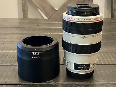 Canon 70-300mm L f/4-5.6 IS USM - with Hood, Front/Rear Caps: Mint-Condition!