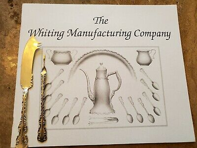 Whiting Louis XV 1891 Sterling Silver lot fork knife spoon cheese olive waffle