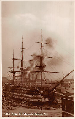 R284919 H. M. S. Victory In Portsmouth Dockyard. S. and. E. Norman. RP
